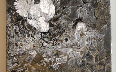Akryl Fluid Tupp 20×20  800:-  SÅLD!!