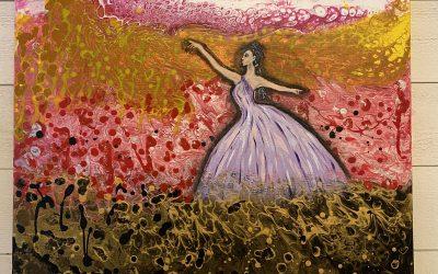 Akryl 50×50 Dansar i bubblor 1500:-